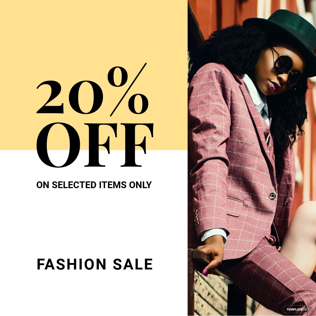 Free Fashion Clearance Sale Instagram Post Template