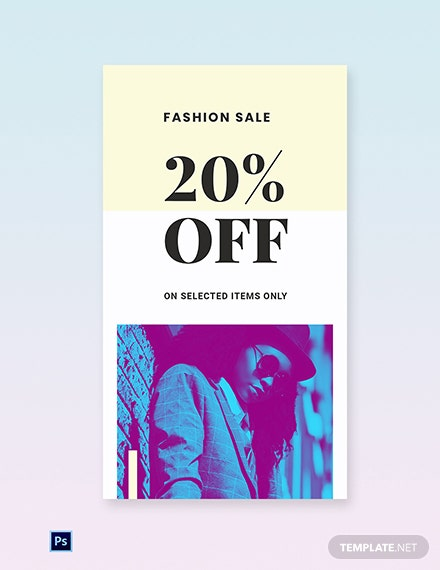 Free Fashion Clearance Sale Instagram Story Template