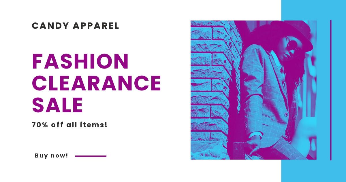 Free Fashion Clearance Sale LinkedIn Post Template