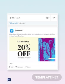 Free Fashion Clearance Sale LinkedIn Post Template