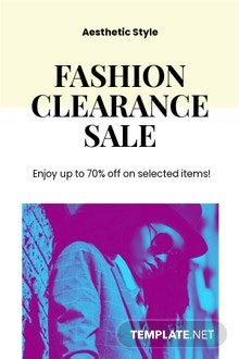 Free Fashion Clearance Sale Pinterest Pin Template