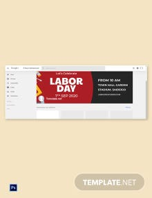 Free Labor Day Google Plus Cover Template