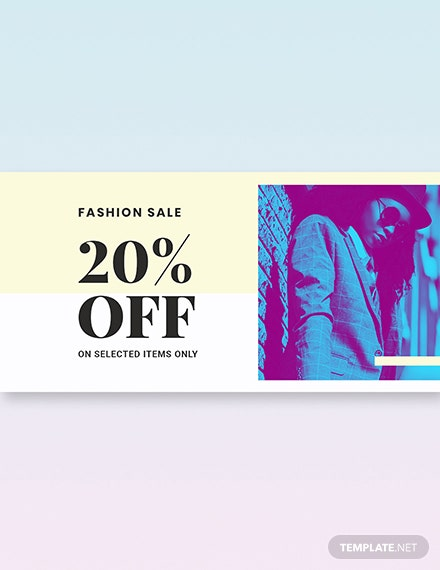 Fashion Clearance Sale Twitter Image Template [Free PSD]