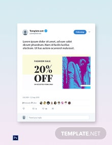 Free Fashion Clearance Sale Twitter Image Template