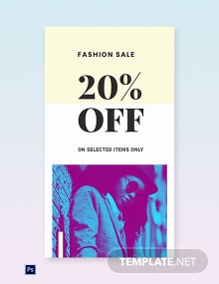 Free Fashion Clearance Sale Whatsapp Image Template