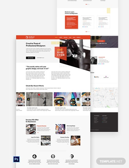 Art Director PSD Landing Page Template