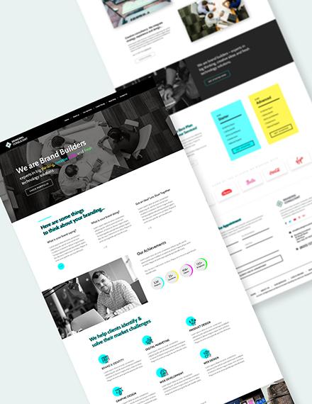 Branding COnsultant PSD Landing Page Doownload