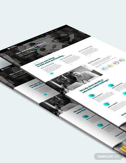 Sample Branding COnsultant PSD Landing Page