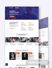 Business Advisor PSD Landing Page Template