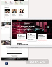 Car Dealership Shop PSD Landing Page Template