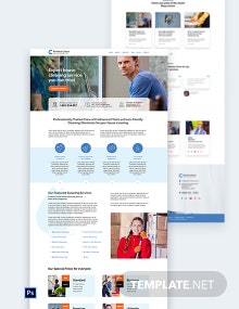 Cleaning Service PSD Landing Page Template