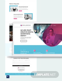 Digital Advertising Agency PSD Landing Page Template