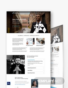 Finance Consultant PSD Landing page Template
