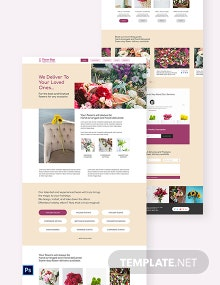 Flower Shop PSD Landing Page Template