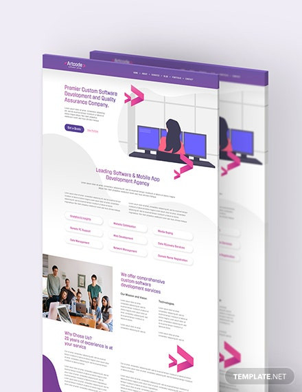 IT Software PSD Landing Page Download