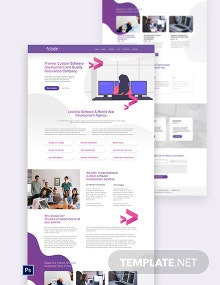 IT Software PSD Landing Page Template