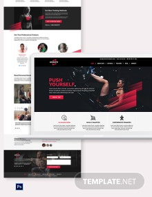Gym PSD Landing page Template