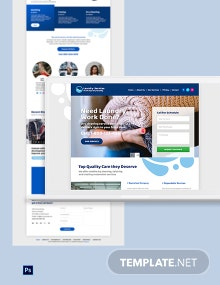 Laundry PSD Landing Page Template