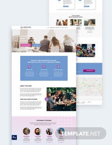 Meetup Event PSD Landing Page Template