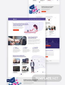 Online Courses PSD Landing Page Template
