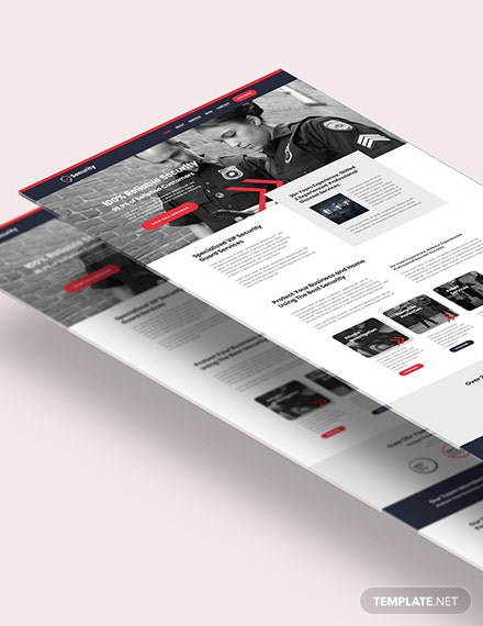 Security Guard Services Shop PSD Landing Page Download