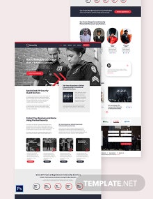 Security Guard Services Shop PSD Landing Page Template