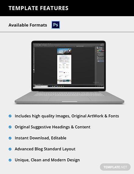 Editable Shipping PSD Landing Page