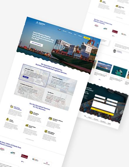 Sample Shipping PSD Landing Page