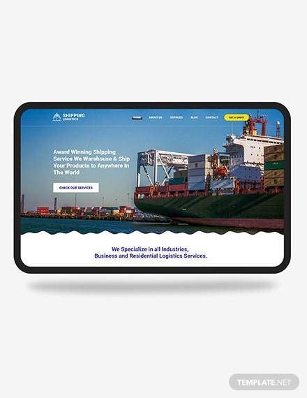 Shipping PSD Landing Page Download