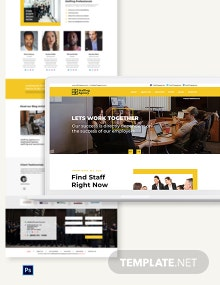Staffing Agency PSD Landing Page Template