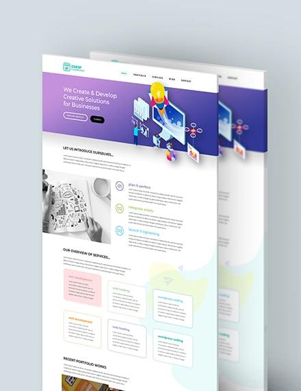 Startup PSD Landing Page Download