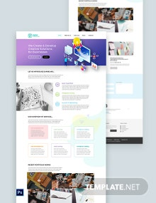 Startup PSD Landing Page Template