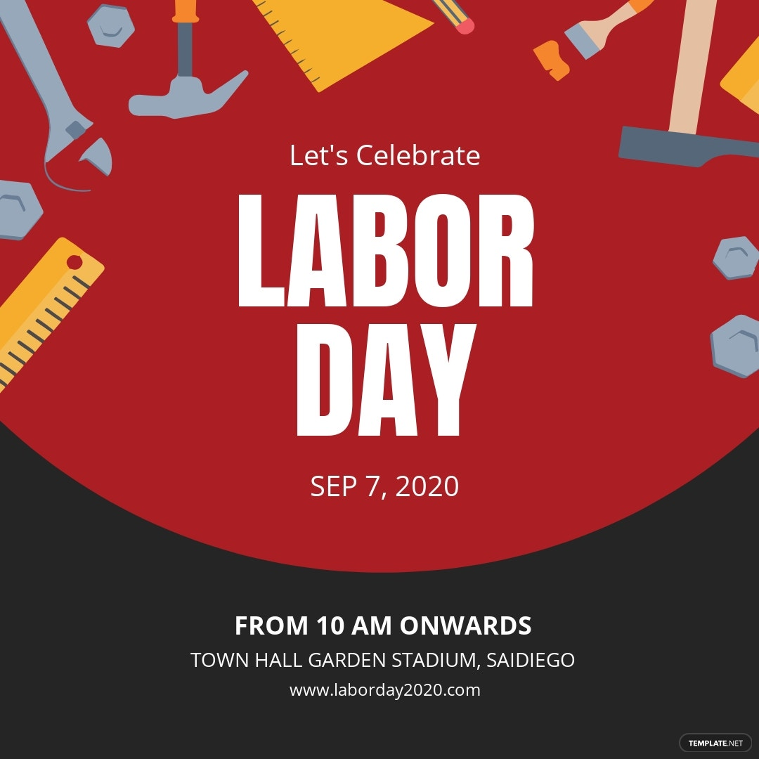 Free Labor Day Instagram Post Template.jpe