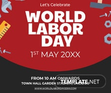 Free Labor Day Instagram Post Template