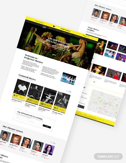 Sample Theater PSD Landing page