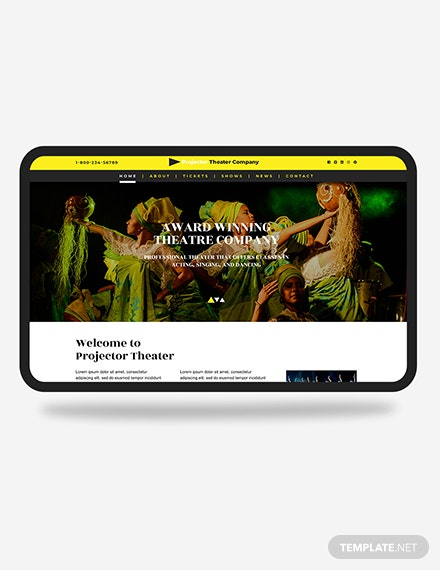 Theater PSD Landing page Download