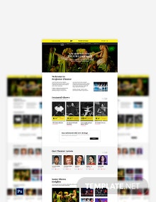 Theater PSD Landing page Template