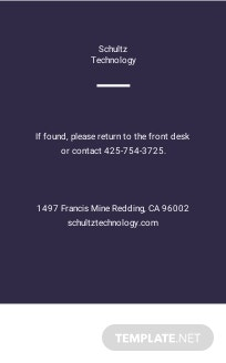 Elegant Corporate ID Card Template [Free JPG] - Illustrator, Word, Apple Pages, PSD, Publisher