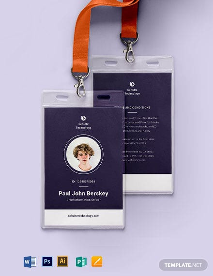 Elegant Corporate ID Card Template