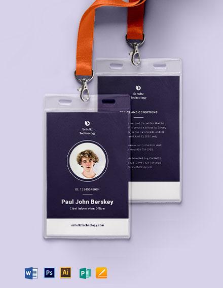 Elegant Corporate ID Card Template