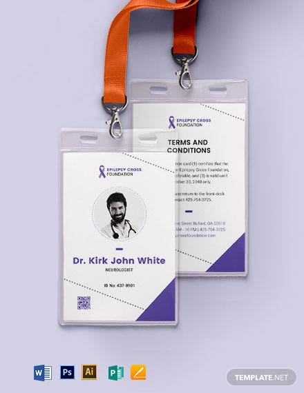 Epilepsy ID Card Template