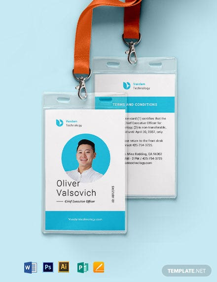 Executive ID Card Template