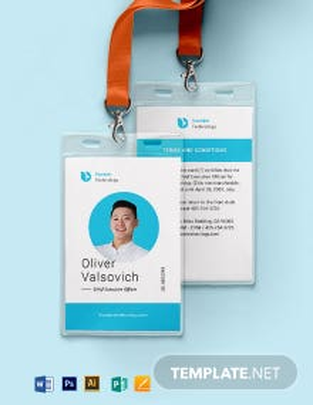Executive ID Card Template