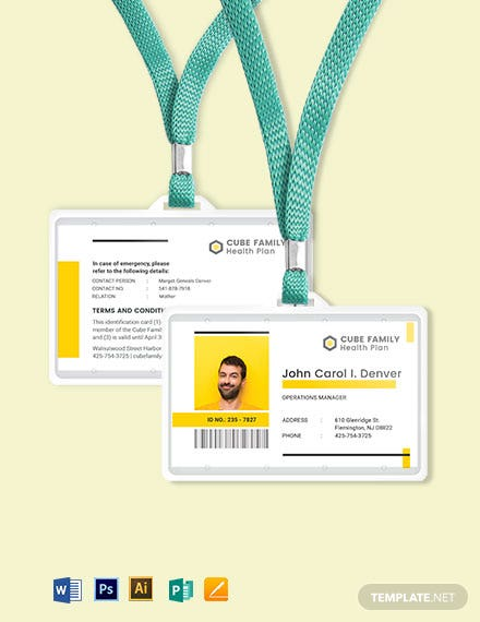 Family ID Card Template