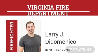 Fire Department ID Card Template