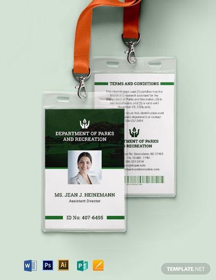 Government  ID Card Template