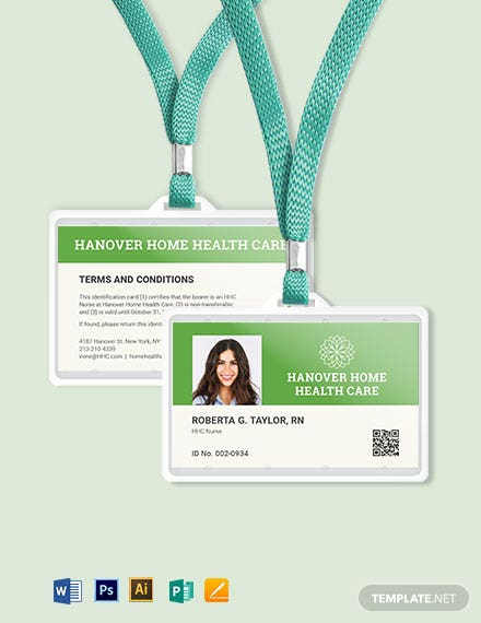 Homecare ID Card Template