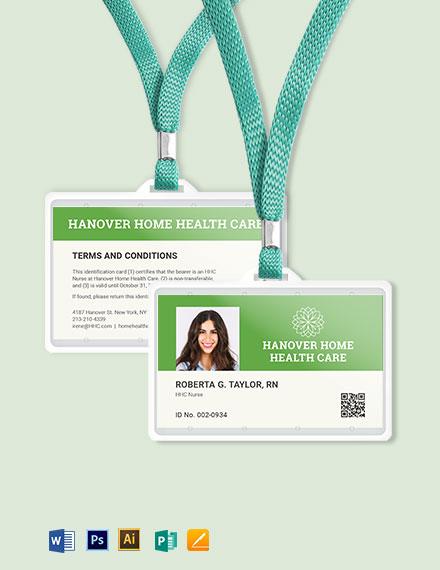 Homecare ID Card Template