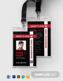 Membership ID card template