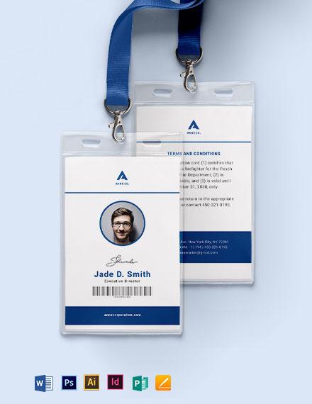 Modern Corporate ID Card Template